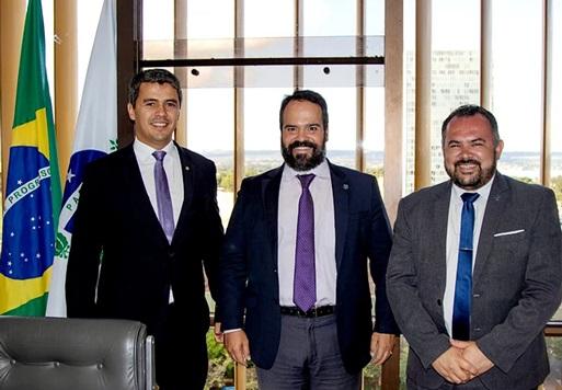 Deputado Diego Garcia, Quirino Cordeiro e Edu Cabral